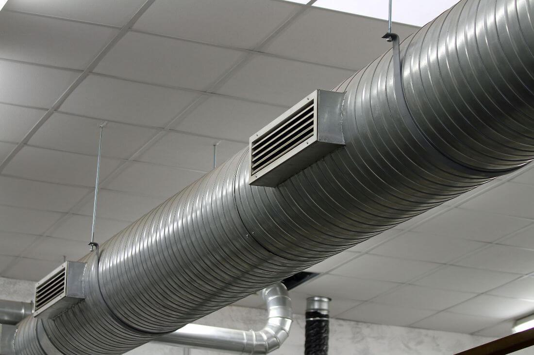 rejillas de ventilación y extracciones de aire